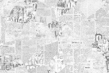 Fototapeta Newspaper paper grunge vintage old aged texture background obraz