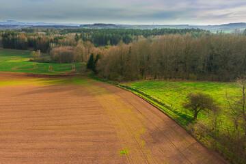 Przedgórze Sudeckie. Widok z drona.