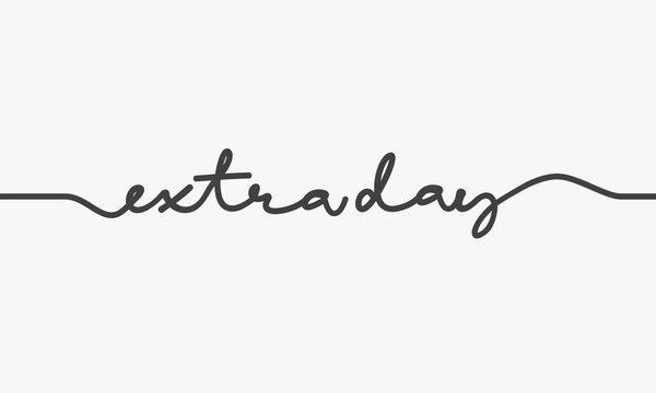 extra day word script design vector.