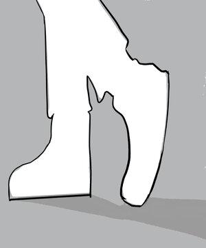 illustration vectorielle d'une chaussure