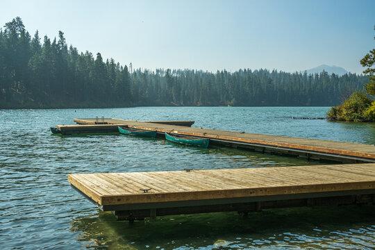 Boat Dock at Suttle Lake near Camp Sherman in Central Oregon