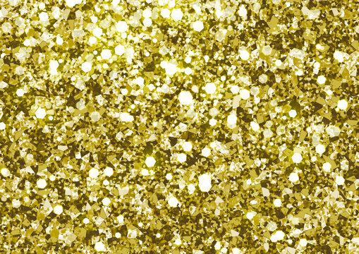 グリッター ラメ スパンコール キラキラ 背景 イラスト 金色 ゴールド