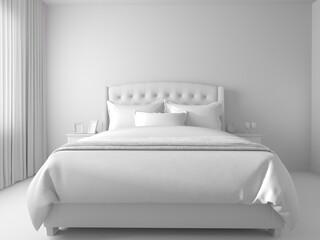 Fototapeta Bedroom in a modern interior