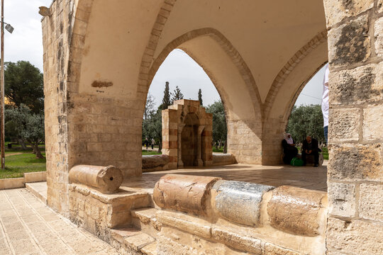 The interior of the Sebil es-Sultam Suleiman on the Temple Mount in the Old Town of Jerusalem in Israel