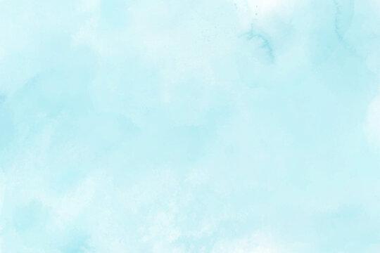 Blue mint watercolor brush paint vector background