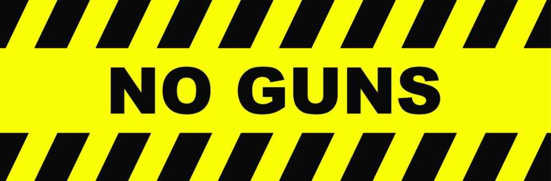 no guns sign on white background