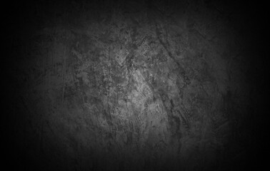 Old wall texture cement dark black gray  background abstract grey color design are light with white gradient background. - fototapety na wymiar