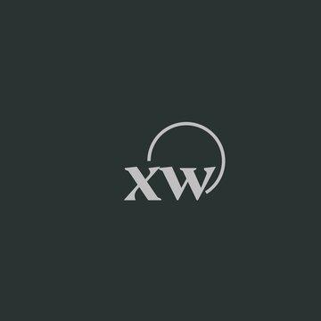 XW initials logo monogram with circles