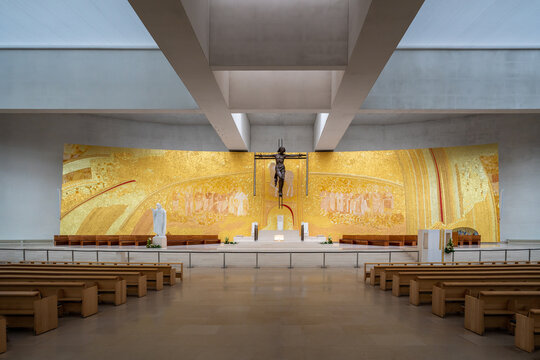 Basilica of the Most Holy Trinity Altar at Sanctuary of Fatima - Fatima, Portugal