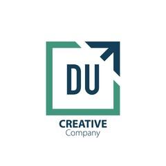 Obraz Initial Letter du Creative Out of Box Logo Design Template. Creative template logo - fototapety do salonu