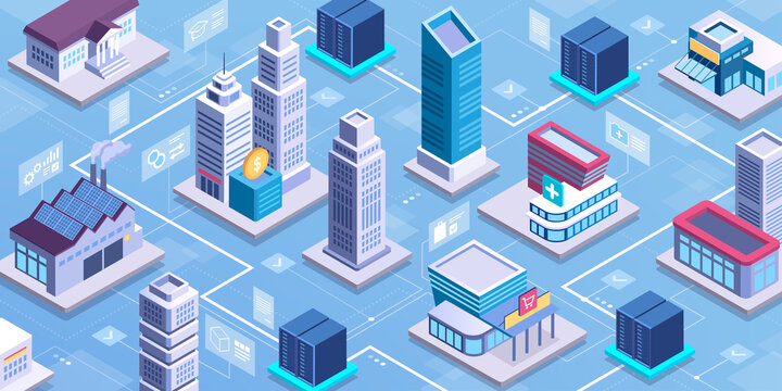 Smart city network and online services