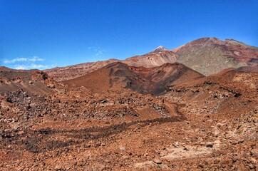 Scenic View Of Desert Against Blue Sky Fototapete