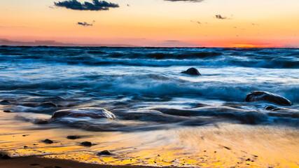 Fototapeta Dębina malownicza Polska plaża z kamieniami