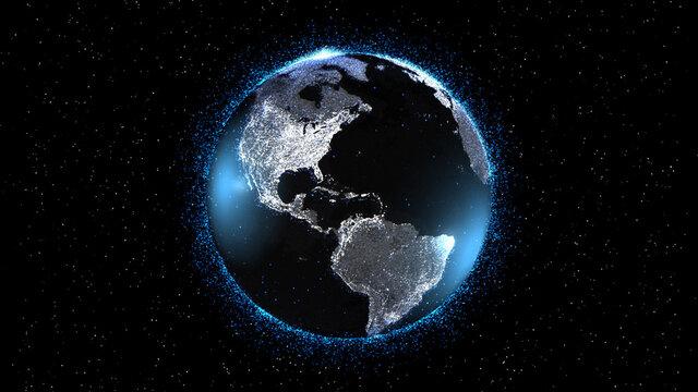 地球のデジタル背景素材