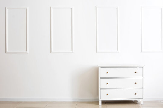 Chest of drawers in interior of modern room
