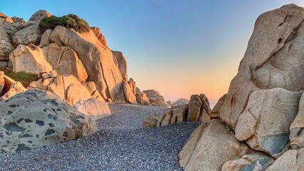Fototapeta Rock Formations At Sunset