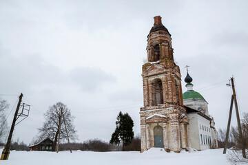 Obraz Orthodox church in the process of restoration - fototapety do salonu