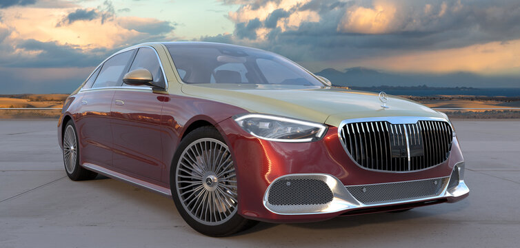 Mercedes-Maybach S-Class limousine for model year 2021