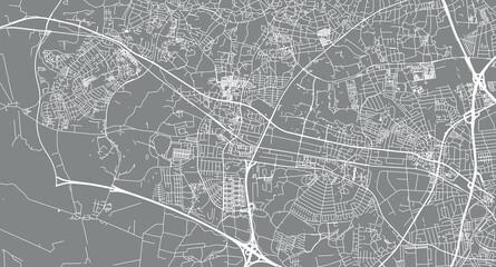 Fototapeta Urban vector city map of Ballerup, Denmark