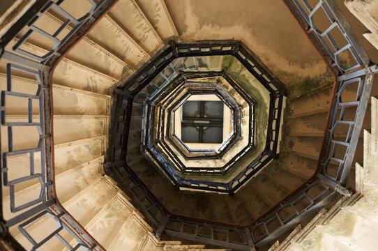 Spiral Staircase Of Volta Lighthouse, Lake Como