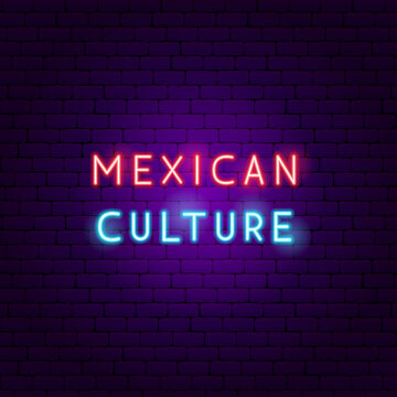 Mexican Culture Neon Text