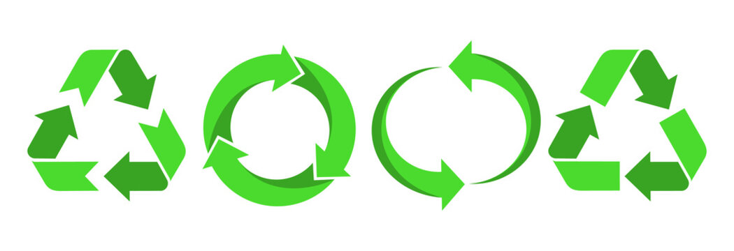 Recycling.Set recycle icons sign.Recycle logo or symbol.Green icons for packaging , recycling.ecology, eco friendly, environmental management symbols.Most used recycle signs vector.
