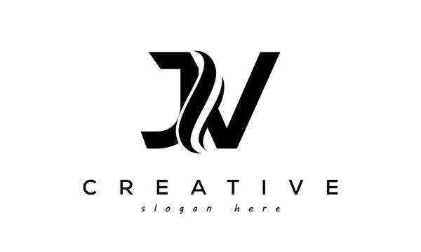 Letter JV creative logo design vector