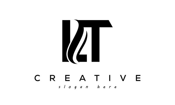 Letter LT creative logo design vector