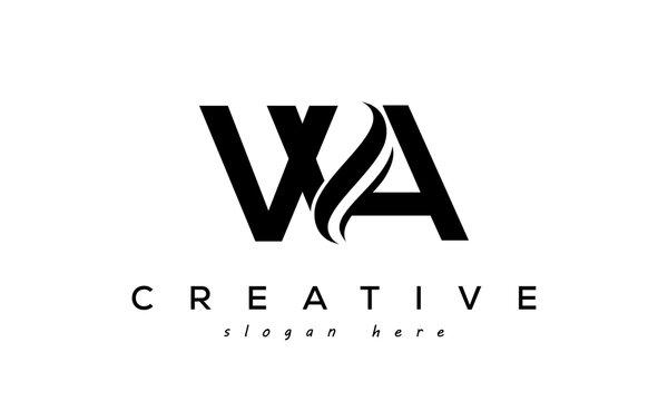 Letter WA creative logo design vector