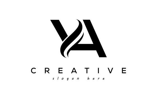 Letter YA creative logo design vector