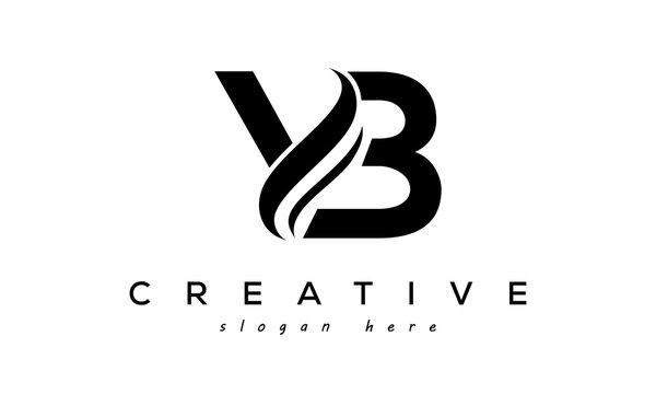 Letter YB creative logo design vector