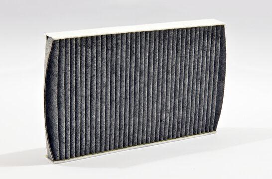 Air pollen filter on white background