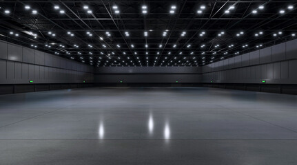 Obraz Empty hall exhibition center. backdrop for exhibition stands.3d render. - fototapety do salonu