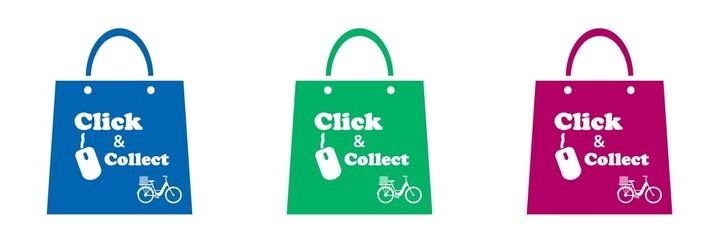 Fototapeta Click & collect, achat en ligne à emporter