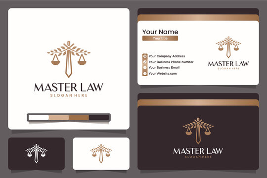 master law , legal , logo design and business card