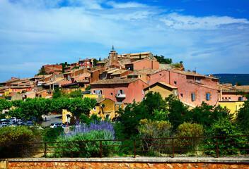 Fototapeta Roussillon - Prowansja - Provance - krajobraz obraz