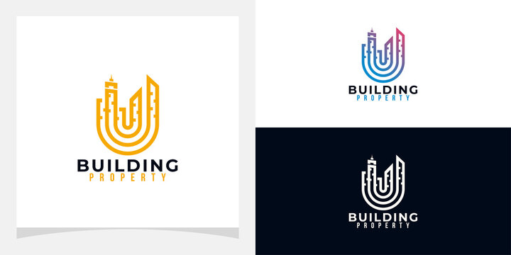 building logo icon vector isolated