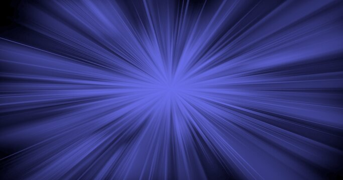 Blue flare in space from star. Space star cosmos abstract background