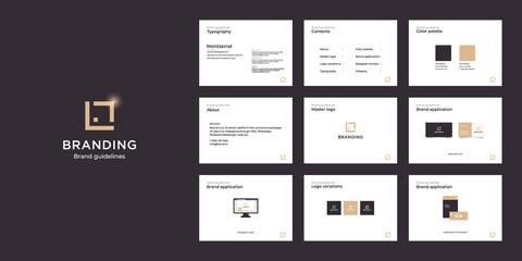 Fototapeta Minimalist luxury brand guide template