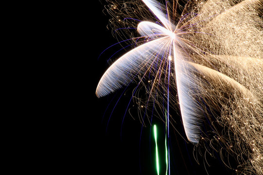 Colorful Fireworks, long exposure