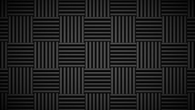 Acoustic foam tiles. Sound studio wall panels, soundproof material pattern vector background illustration