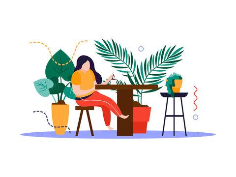 Home Garden Interior Composition