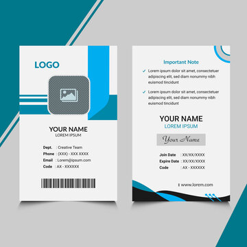 personal visiting id card template design free vector in illustrator file