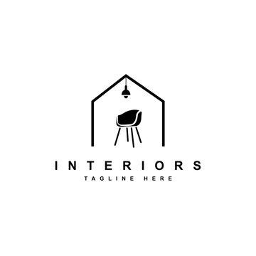 Home Furniture logo design illustration vector template