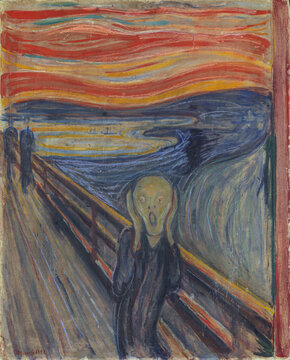 Edvard Munch, 1893, The Scream, oil, tempera and pastel on cardboard, Oslo, National Gallery of Norway