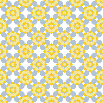 Yellow gray african motifs Kenya geometric seamless pattern vector design.