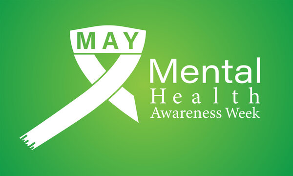 Mental Health Awareness Week Observed on Annual Calendar of Every May Month Awareness Vector Illustration. Banner, Poster International Awareness Campaign Template.