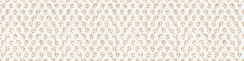 Fototapeta Seamless minimalist blockprint leaf border pattern. Calm tonal pastel color edge trim. Simple modern scandi unisex kid design. Organic light gender neutral baby newborn nursery print banner.