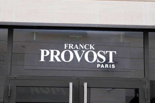 Franck Provost logo brand and text sign hairdresser front of barber shop salon French