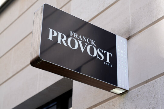 Franck Provost logo sign and text brand of famous french hairdresser salon barber shop
